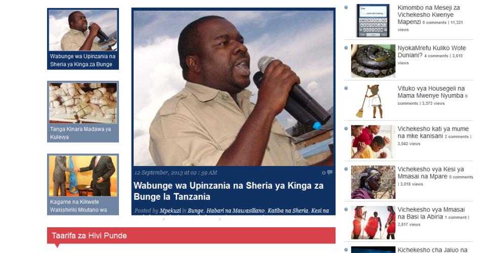 WordPress or Bloger Themes/Templates in Tanzania
