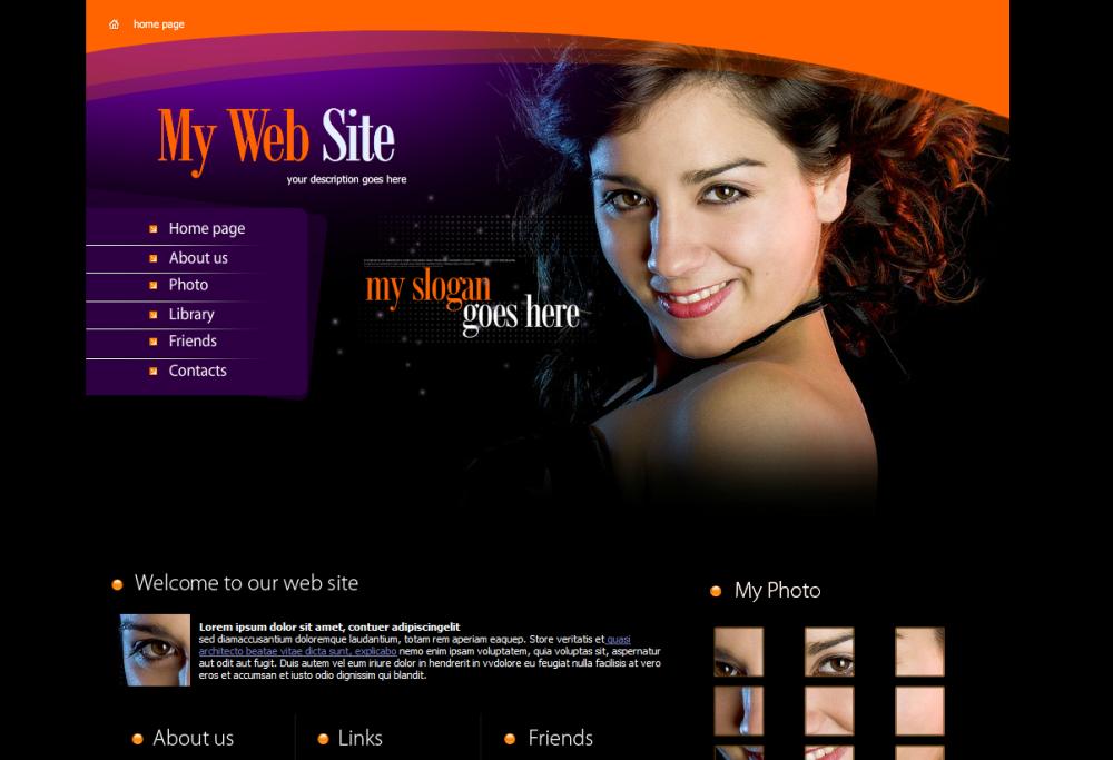 Fasion WordPress Theme Design Sample
