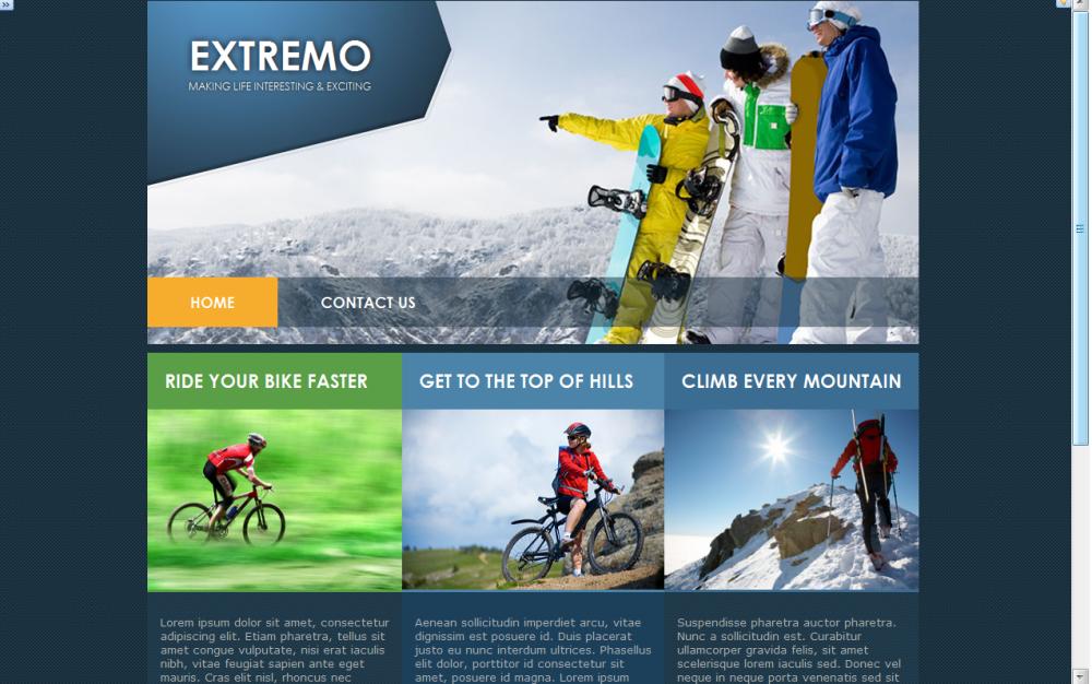 Wordpress  theme design sample