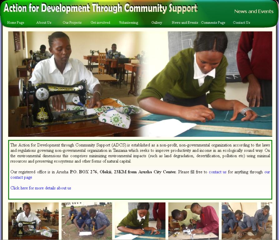 Nonprofit WordPress Theme Design Sample