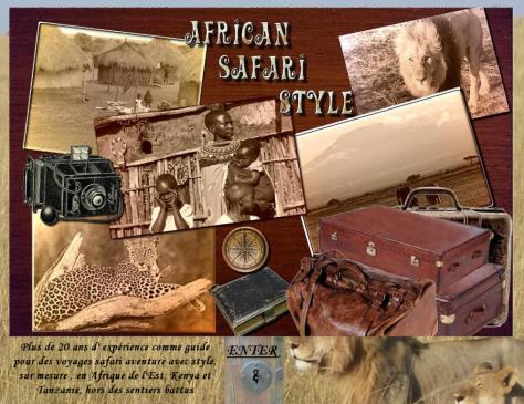 Old African Safari Style