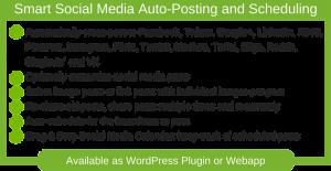 Features for Blog2social WordPress Plugin